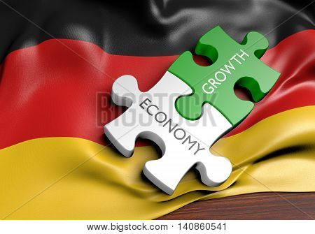 Germany economy and financial market growth concept, 3D rendering