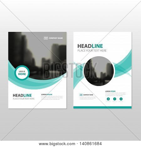 Green circle Vector annual report Leaflet Brochure Flyer template design book cover layout design abstract business presentation template a4 size design