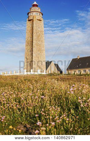 Cap Levi Lighthouse. Fermanville Bourg Normandy France.