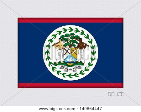 Flag Of Belize. Rectangular Official Flag With Proportion 2:3