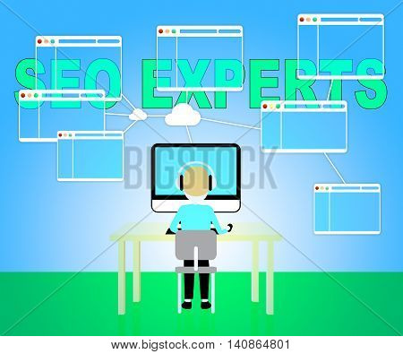 Seo Experts Indicating Excellence Search And Engine