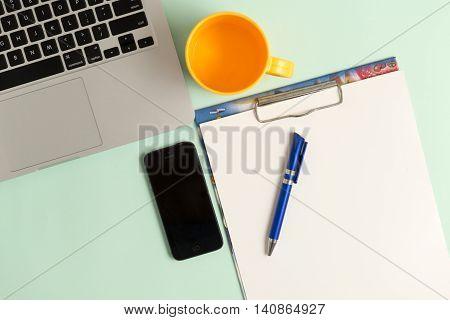 Blog Or Blogging Text On The Desk