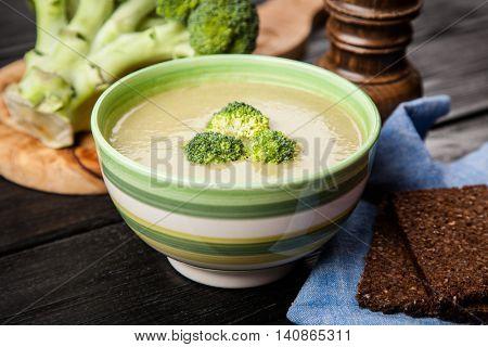 Bowl of broccoli soup