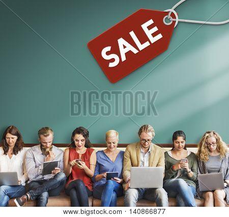 Sale Discount Label Tag Commerce Concept