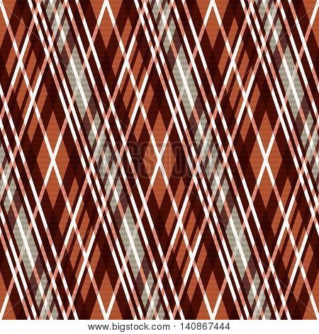 Seamless Rhombic Pattern In Brown And Light Gray