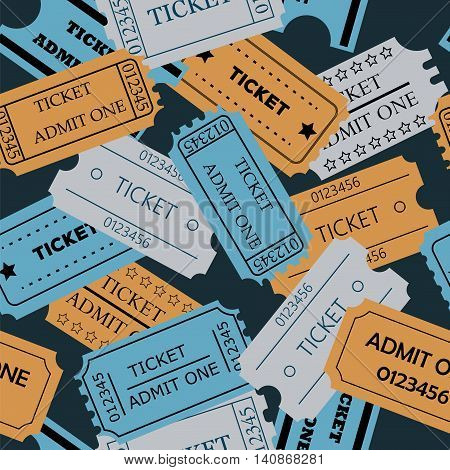 Ticket Admit One Seamless Pattern