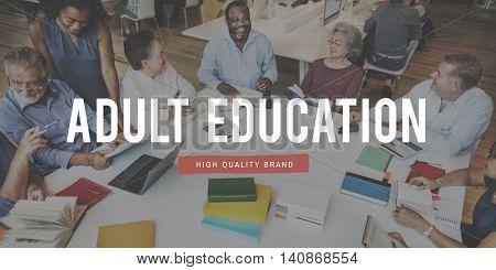Adult Education College Classmates Development Concept