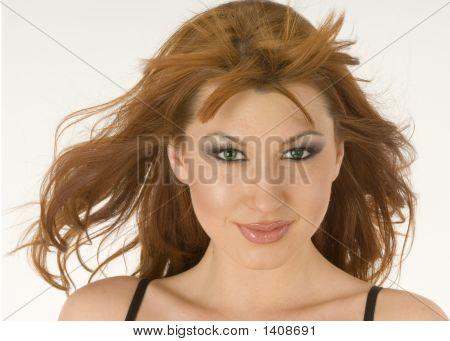 Beautiful Redheaded Woman Portrait 2