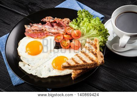 Traditional breakfast on a plate