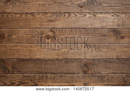 Wood plank brown texture background, free space. Horizontal wood texture backdrop