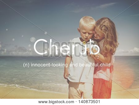 Cherub Kids Child Adolescence Young Toddler Concept