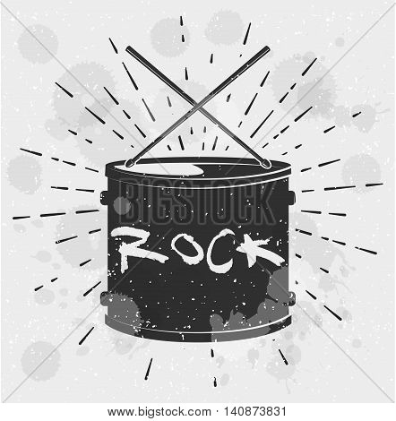 Drum Music Instrument Vector Illustration. Vector Illustration