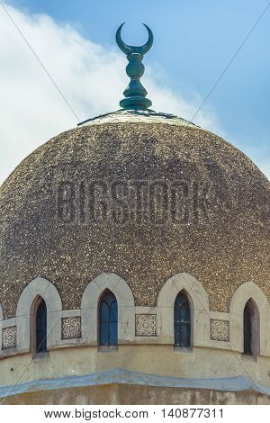 Dome Mosque of The Great Mahmudiye Mosque. Grand Mosque of Constanta originally known as the Carol I Mosque was built in 1910 by King Carol I