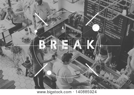 Break Coffee Cafe Cessation Pause Relax Rest Concept