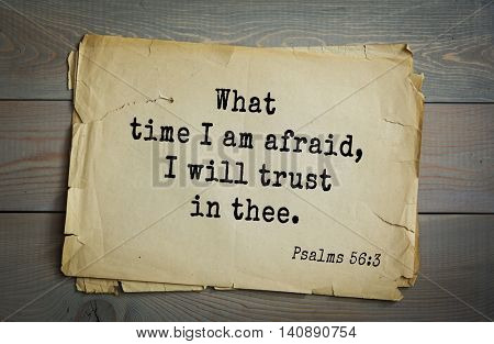Top 500 Bible verses. What time I am afraid, I will trust in thee. Psalms 56:3