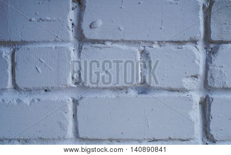 White grunge brick wall for a background. Сloseup.
