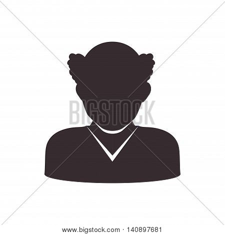 Avatar male concept represented by man head and torso silhouette icon. Isolated and flat illustration