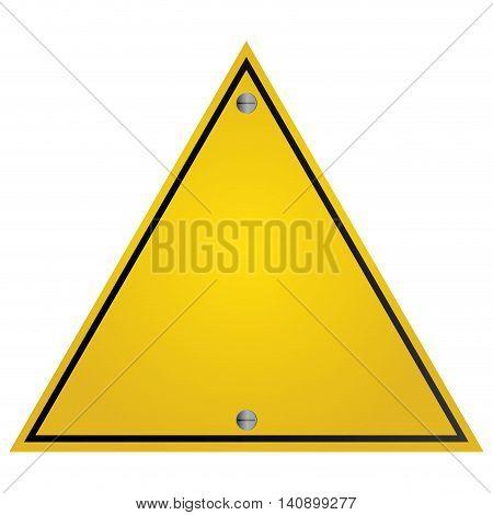 flat design yellow traffic sign icon vector illustration