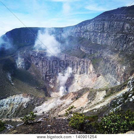 Mount Gede Crater in West Java Indonesia
