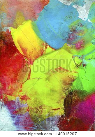paint textures colorful impasto hand painted on canvas