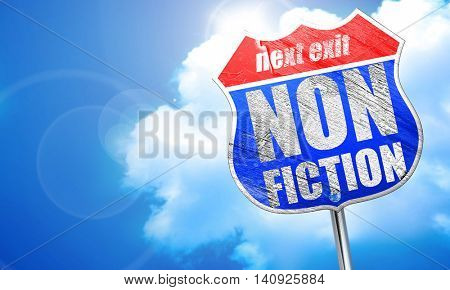 non fiction, 3D rendering, blue street sign