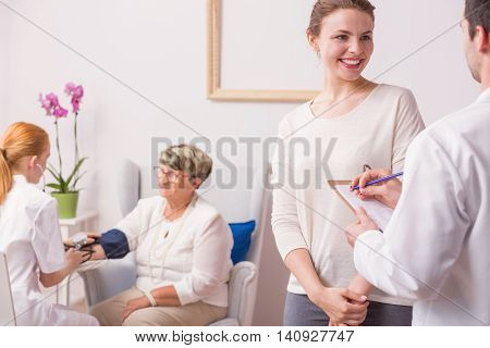 Satisfied With Her Grandmother's Medical Results