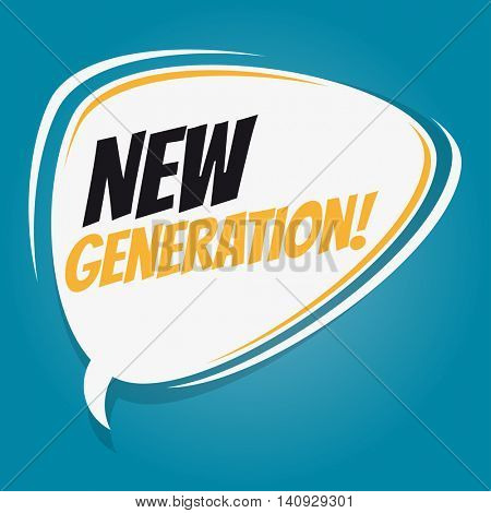 new generation retro speech balloon