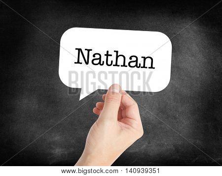 Nathan written in a speechbubble