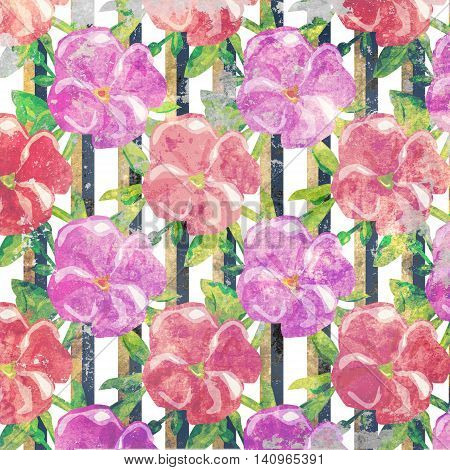 Grunge floral pattern vintage style background illustration