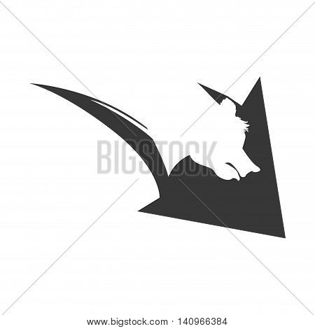 arrow direction decrease bear profit icon. Isolated and flat illustration. Vector graphic