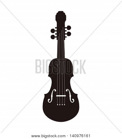 cello string instrument music icon. Isolated and flat illustration. Vector graphic