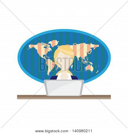 Anchorman on radio broadcast news. Anchorman flat vector illustration. Anchorman with the release of breaking news.