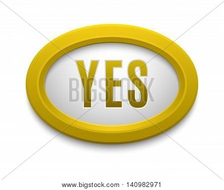 UI interface buttons ok, yes, approve and go. Vector internet check yes button positive isolated. Website accept yes button success mark approved tick concept. Correct shiny sign.