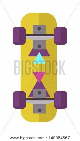 Skateboard icon extreme sport sign. Vector different board skateboard icons urban art silhouette. Street graphic deck skater skateboard icons active fun ride.