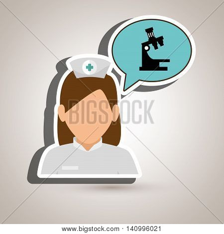 nurse tooth health speech vector illsutration graphic
