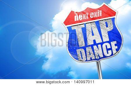 tap dance, 3D rendering, blue street sign
