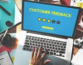 Customer Feedback Comment Vote Review Results Concept poster