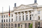German Bundesrat. Federal Council. Prussian House of Lords on Leipziger Strasse. Berlin, Germany. poster