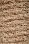 spiral fibrous strong cord from natural hemp poster