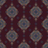 Seamless pattern based on traditional Asian elements Paisley. Boho vintage style vector background. Best motive for print on fabric or papper. poster