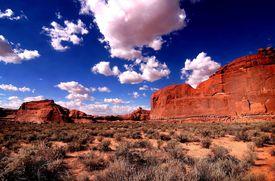 Archec national park blue sky and