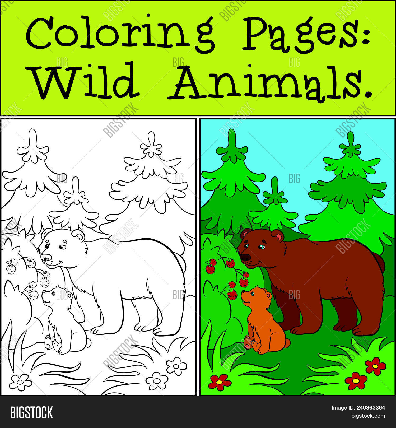 Coloring pages wild vector photo free trial bigstock