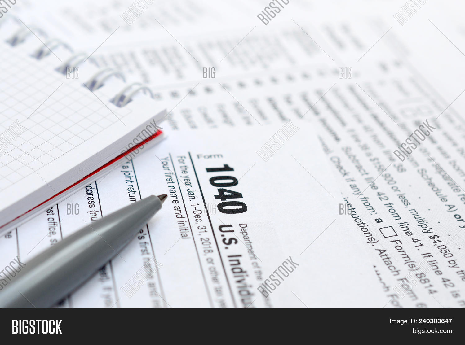 Pen Notebook Lies On Image Photo Free Trial Bigstock