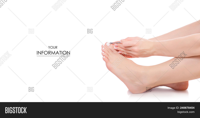Female Feet Legs Pusher Nails Hands Image & Photo | Bigstock