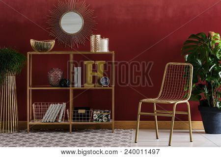 Gold And Red Elegant Interior