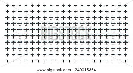 Aircraft Icon Halftone Pattern, Constructed For Backgrounds, Covers, Templates And Abstract Concepts