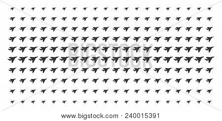Airplane Intercepter Icon Halftone Pattern, Designed For Backgrounds, Covers, Templates And Abstract