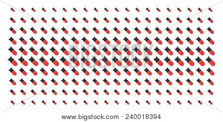 Aviation Bomb Icon Halftone Pattern, Constructed For Backgrounds, Covers, Templates And Abstraction