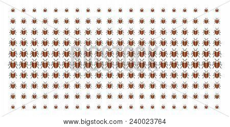Bug Icon Halftone Pattern, Constructed For Backgrounds, Covers, Templates And Abstract Effects. Vect