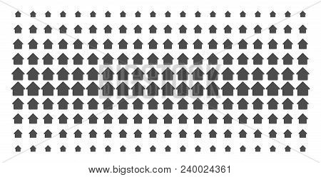Cabin Icon Halftone Pattern, Constructed For Backgrounds, Covers, Templates And Abstraction Concepts